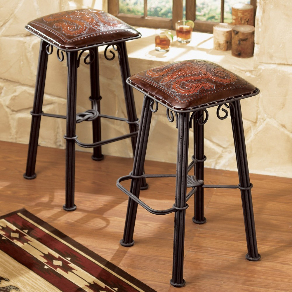 Western Bar Stools Wrought Iron