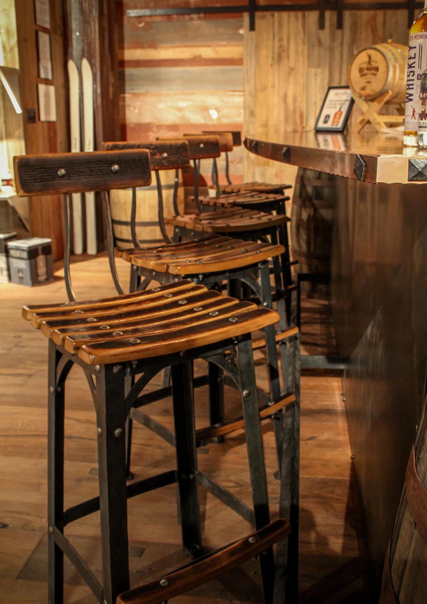 Whiskey Barrel Bar Stools