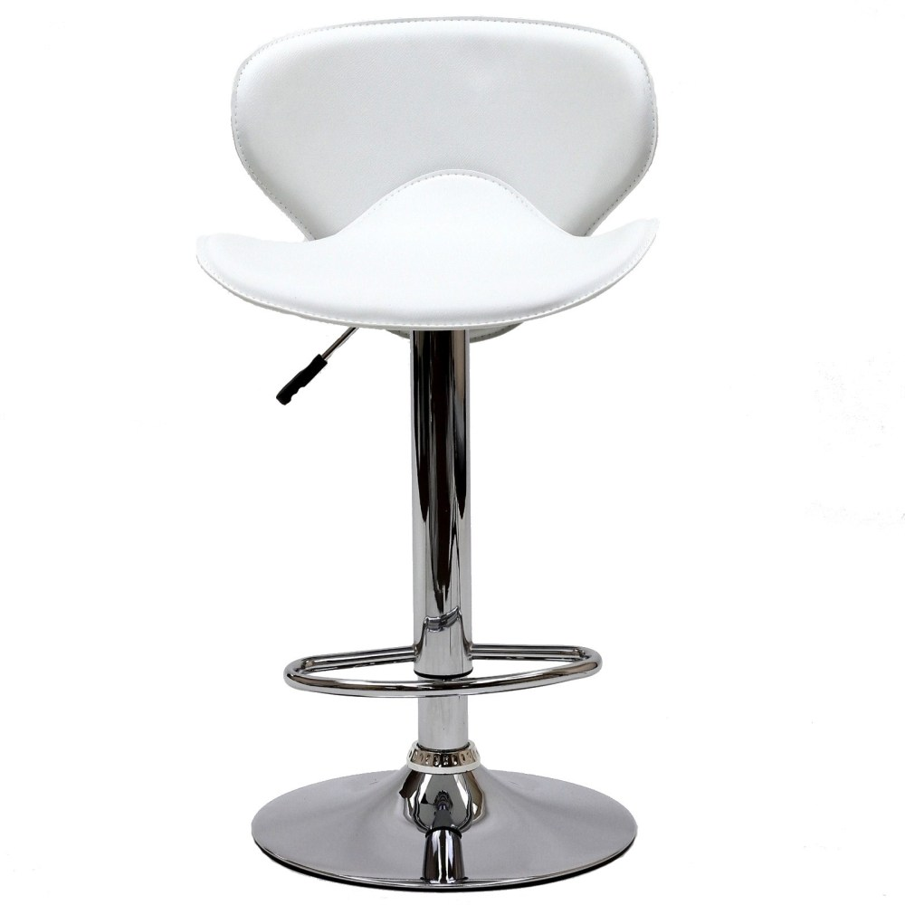 White Adjustable Height Bar Stools