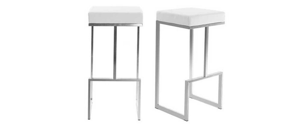 White Bar Stools Set Of 2