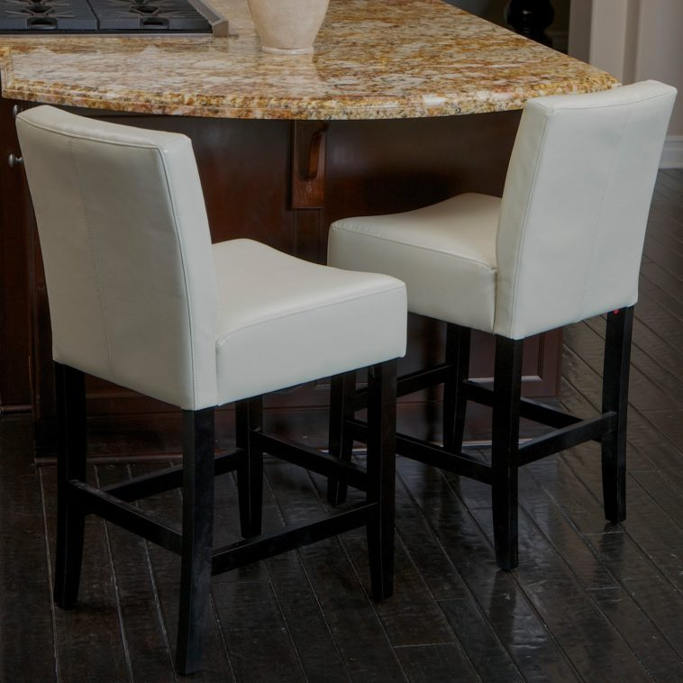 White Bar Stools With Wooden Legs