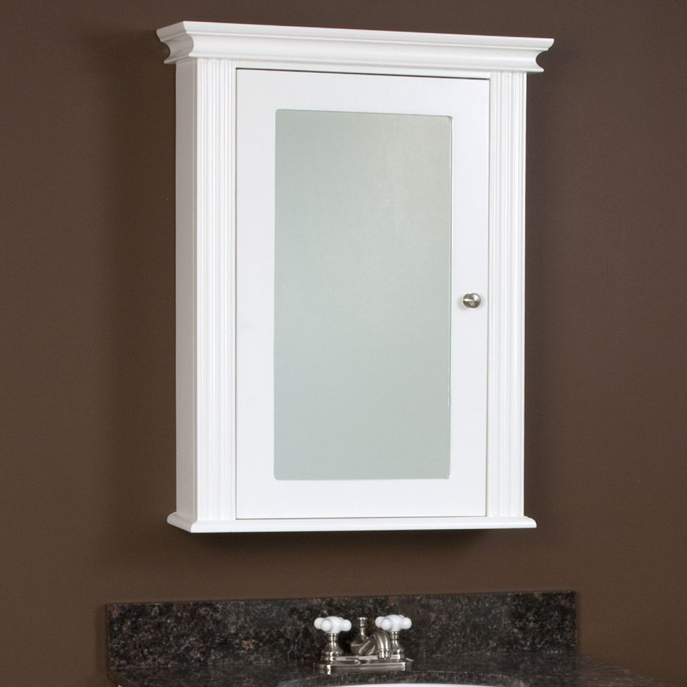 White Bathroom Medicine Cabinet With Mirror