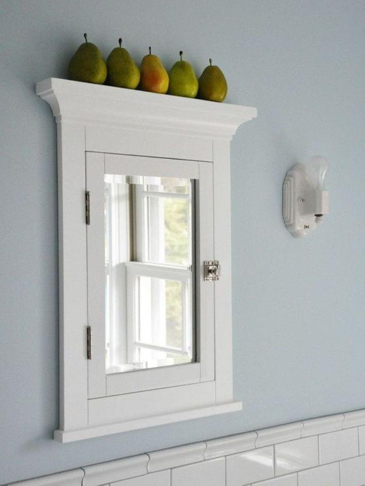 White Framed Medicine Cabinet