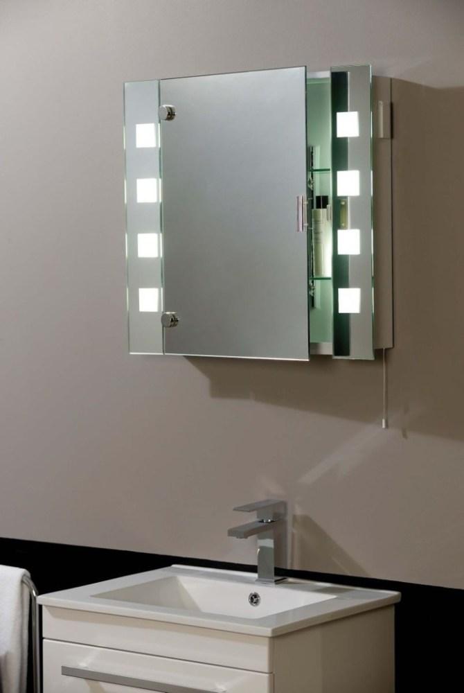 White Framed Mirror Medicine Cabinet