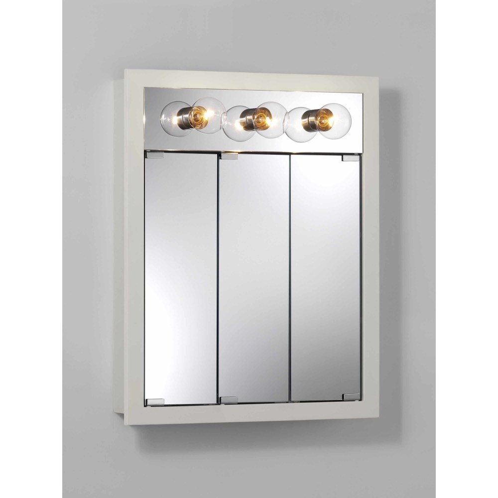 White Framed Mirrored Medicine Cabinet