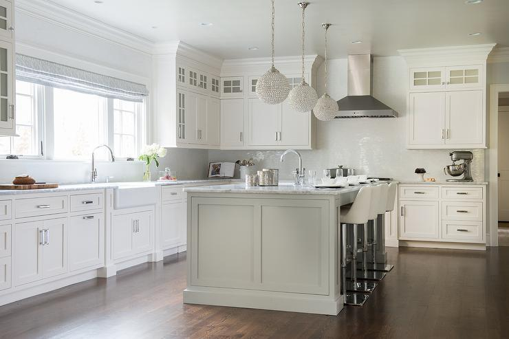 White Kitchen Island With Bar Stools