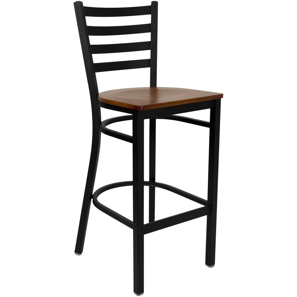 White Ladder Back Bar Stools