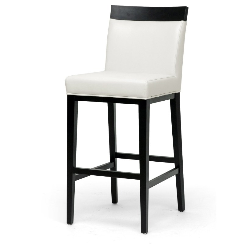 White Leather Bar Stools Sale