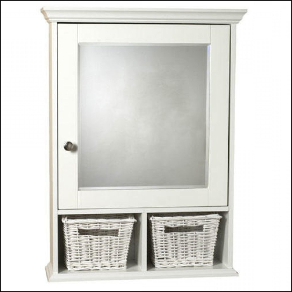 White Medicine Cabinet Surface Mount