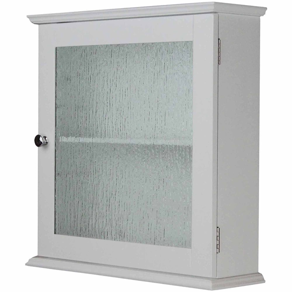 White Medicine Cabinet With Glass Door