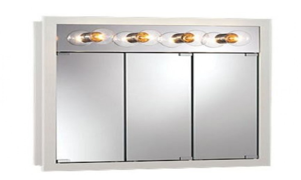 White Medicine Cabinet With Lights