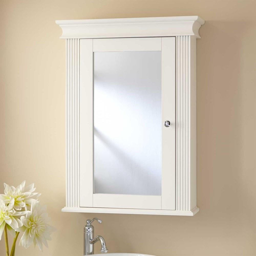 White Medicine Cabinets Recessed