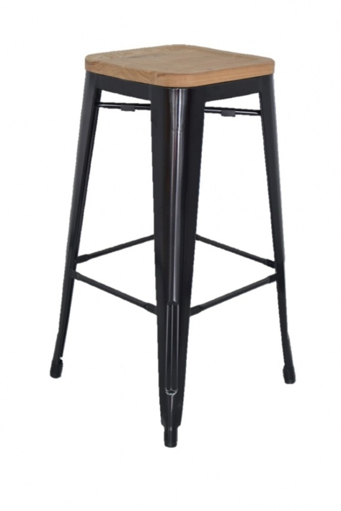 White Metal Bar Stools With Back