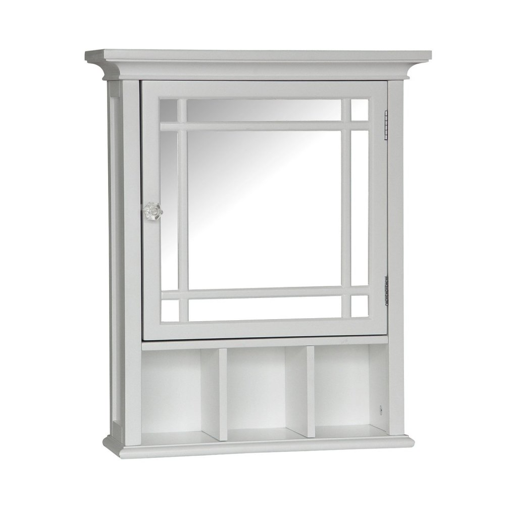 White Mirrored Medicine Cabinet