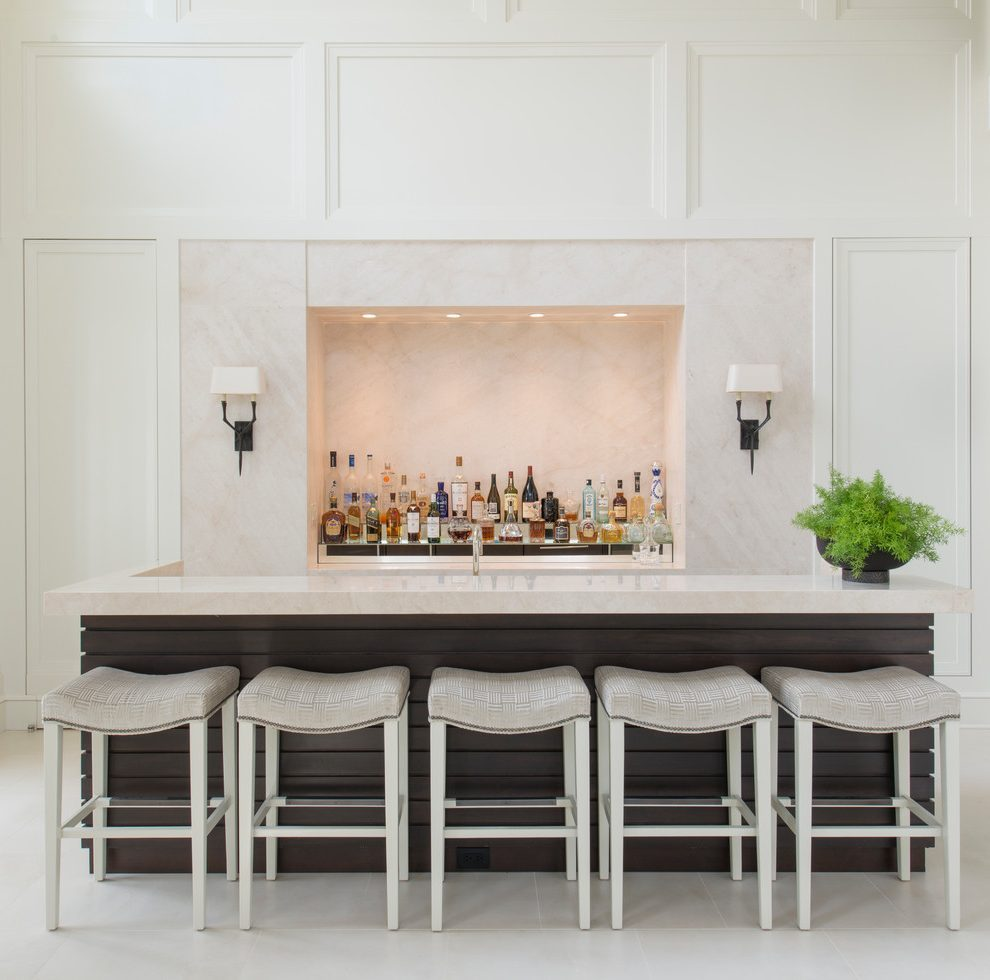 White Studded Bar Stools