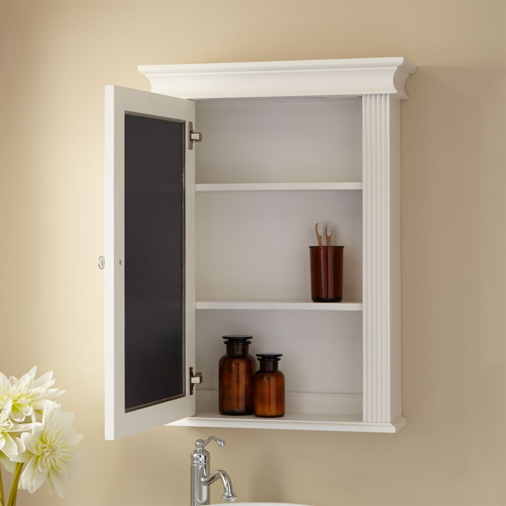 White Surface Mount Medicine Cabinet With Mirror