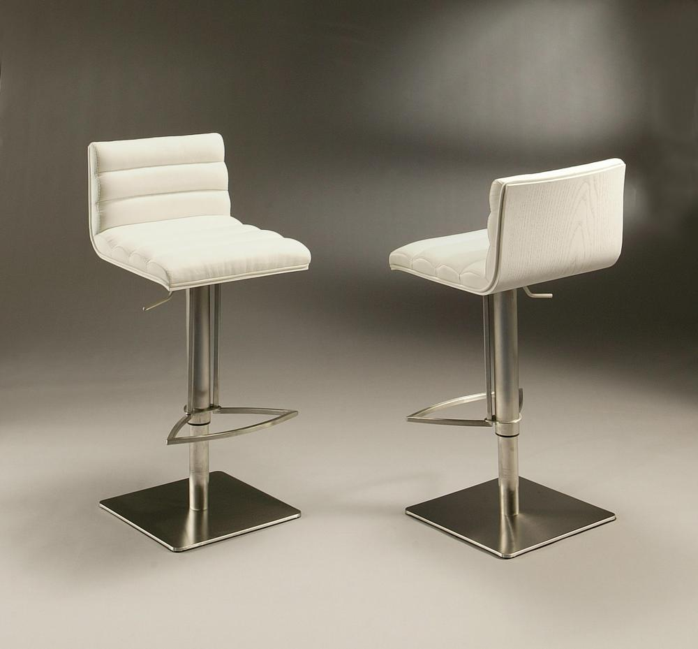 White Swivel Bar Stools With Backs