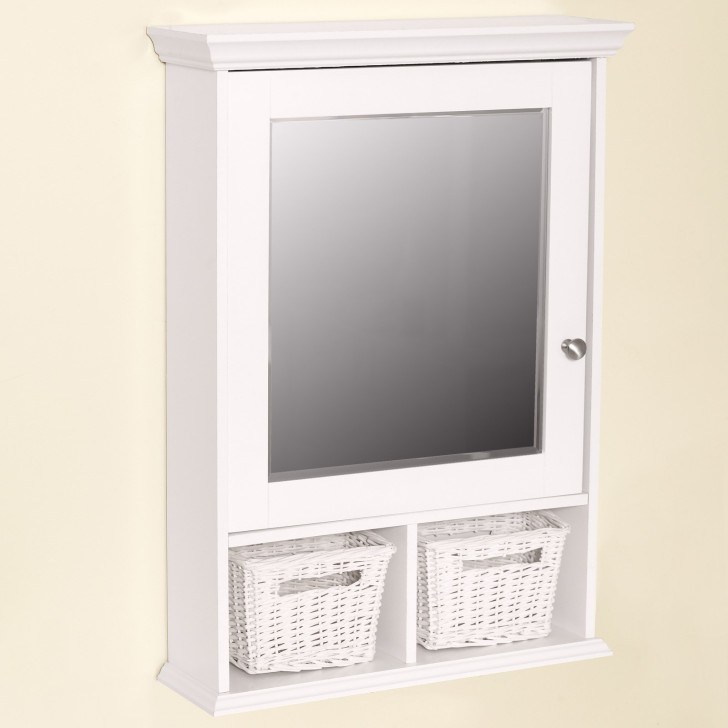 White Wood Bathroom Medicine Cabinet