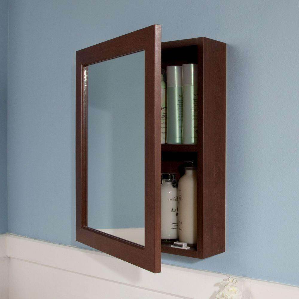 White Wood Mirror Medicine Cabinet