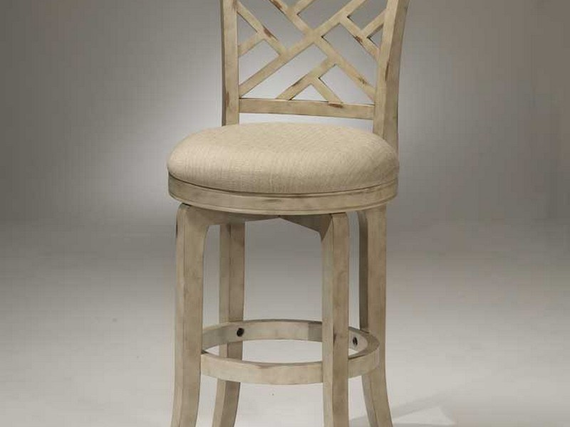 White Wooden Bar Stools With Backs