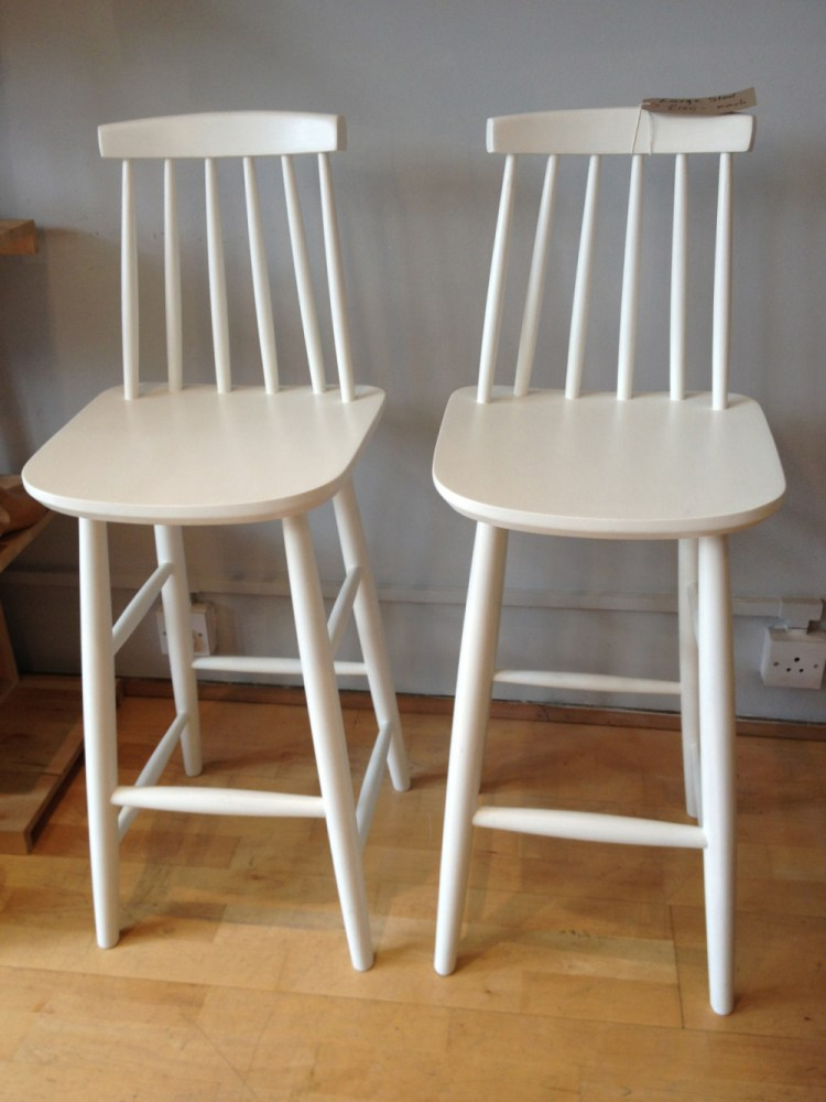 White Wooden Breakfast Bar Stools