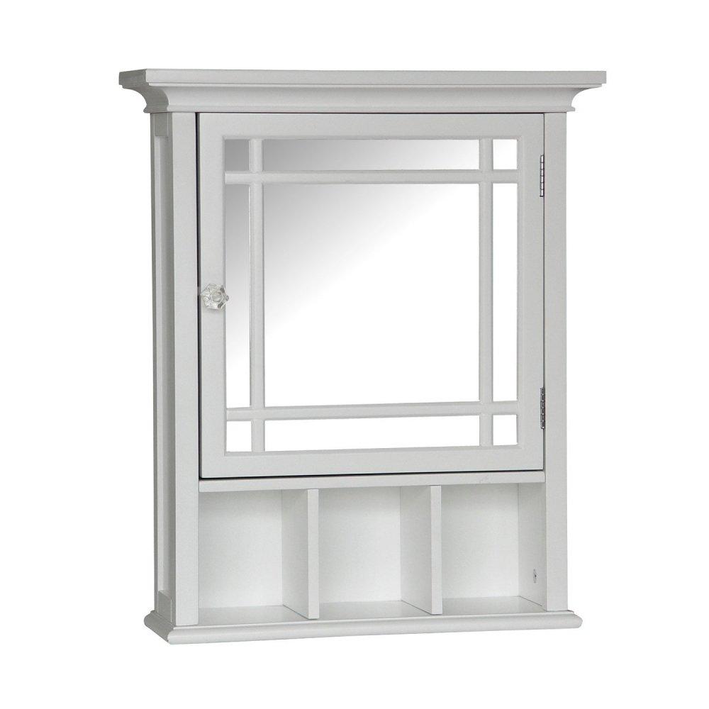 White Wooden Medicine Cabinet