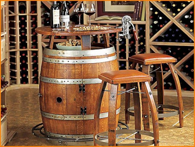 Wine Barrel Bar Stools Texas
