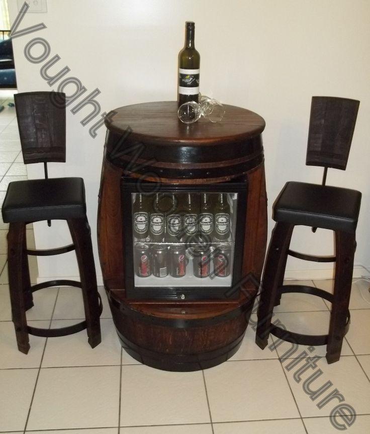 Wine Barrel Bar Stools With Backs