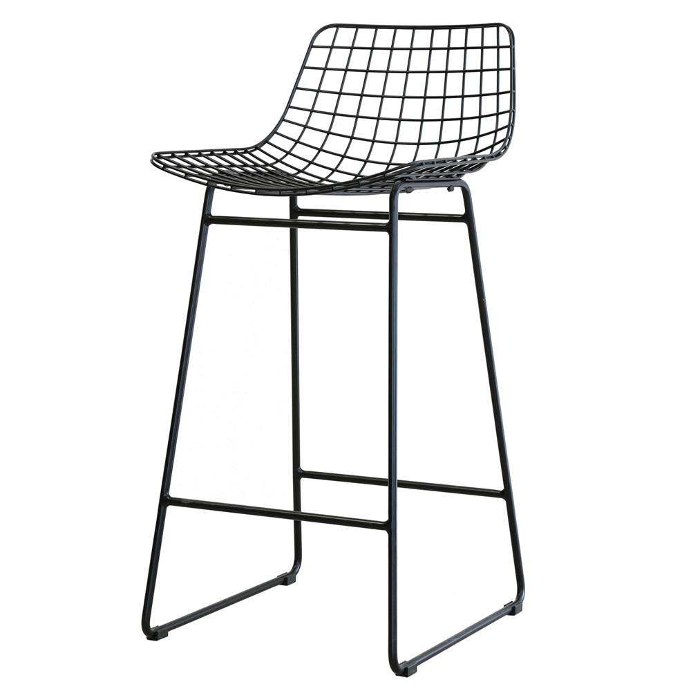 Wire Bar Stools Black