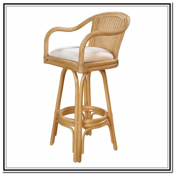 Wood Bar Stools With Backs And Arms