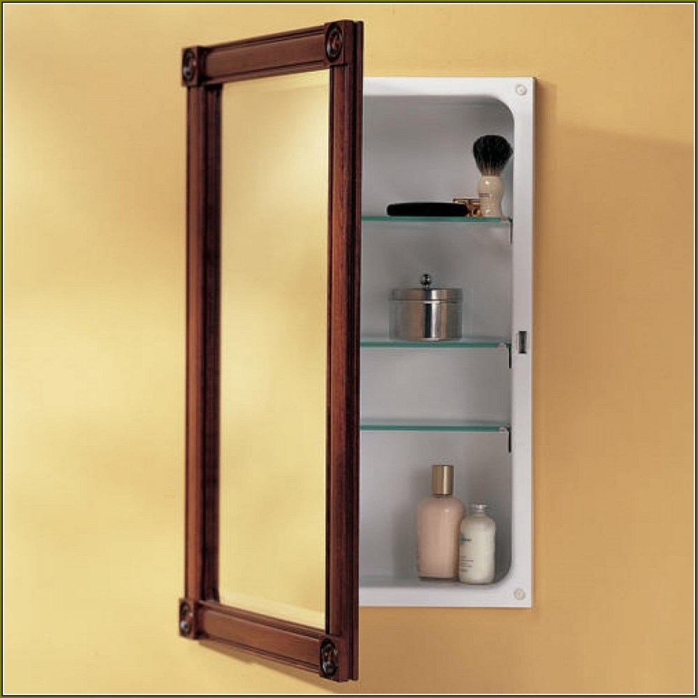 Wood Framed Medicine Cabinets