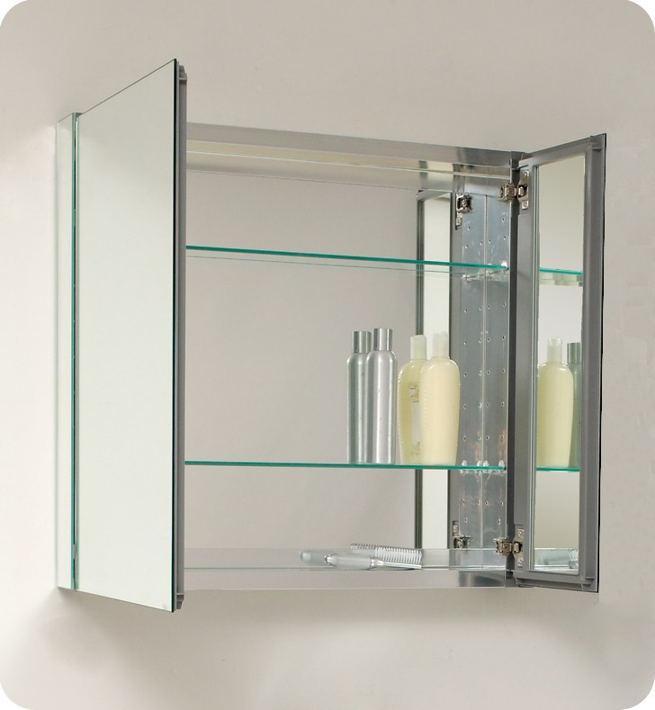 Wood Framed Mirror Medicine Cabinets