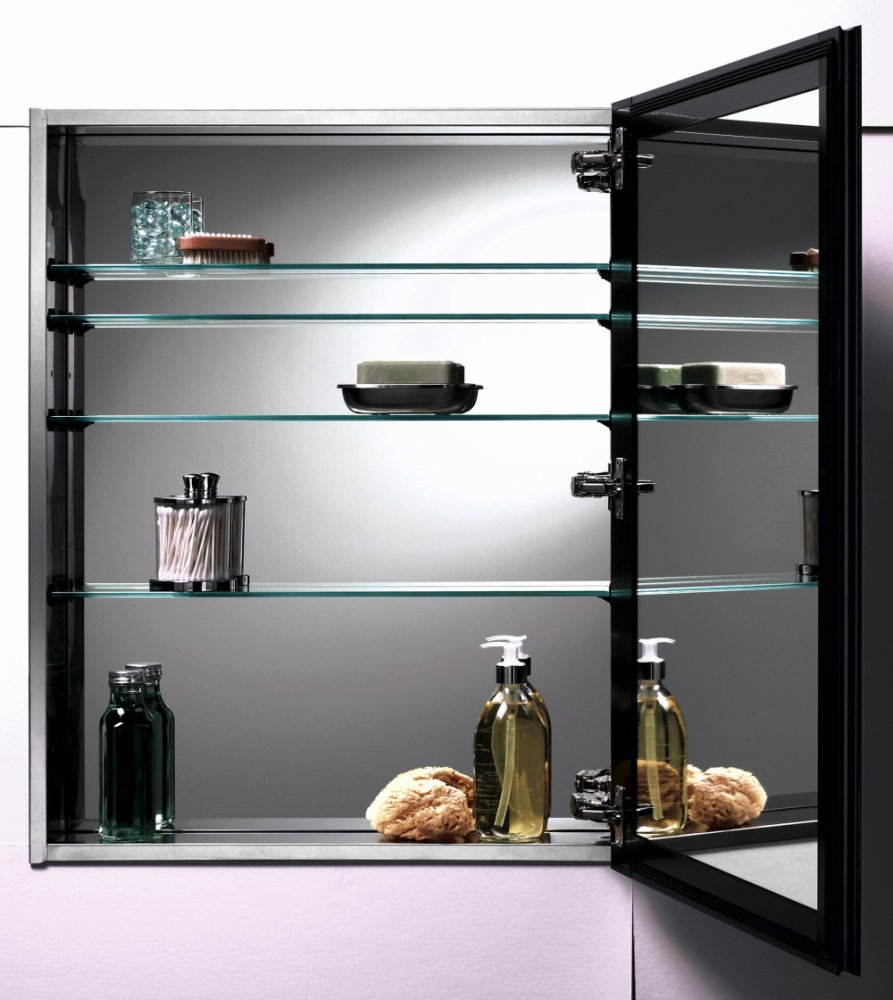 Wood Medicine Cabinet Glass Shelves