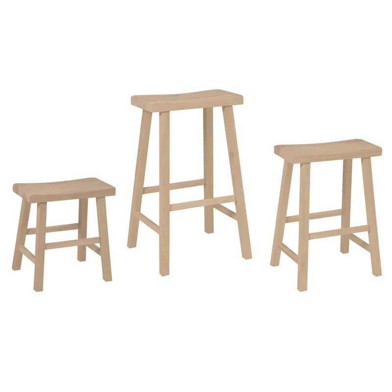 Wood Saddle Seat Bar Stools