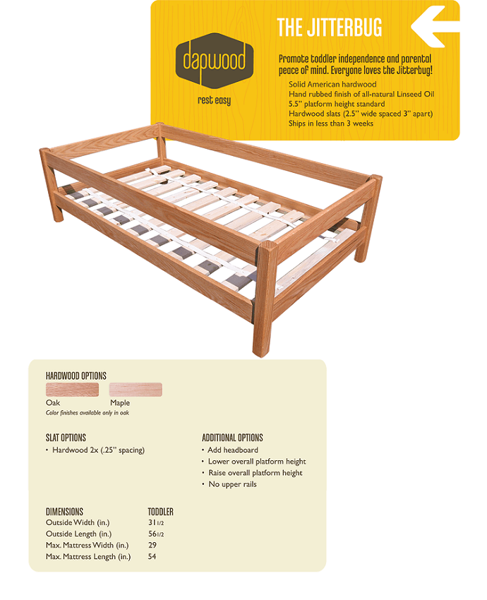 Wood Toddler Bed Frame