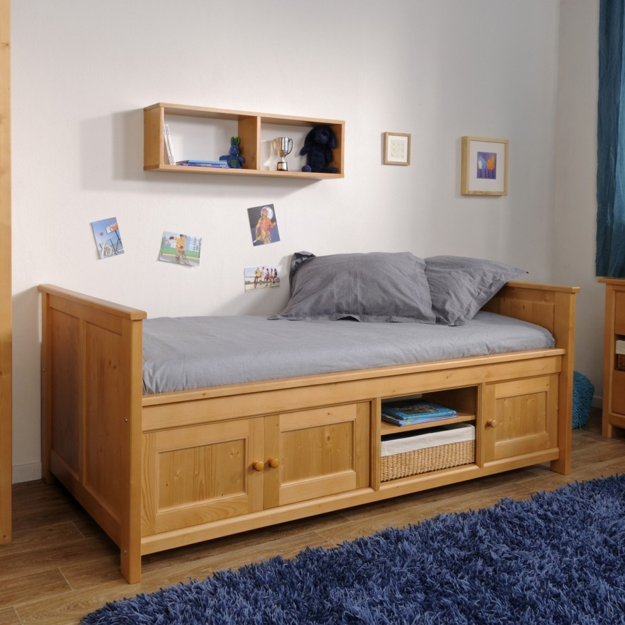 Wood Toddler Bed With Storage