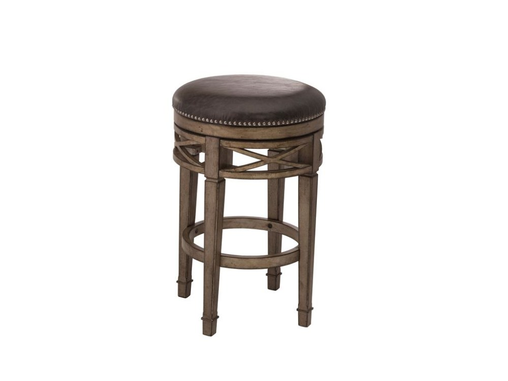 Wooden Backless Swivel Bar Stools