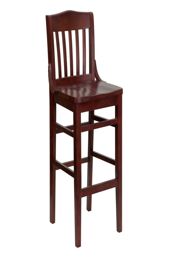 Wooden Bar Stools With Backs And Arms