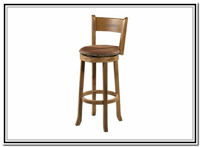 Wooden Swivel Bar Stools