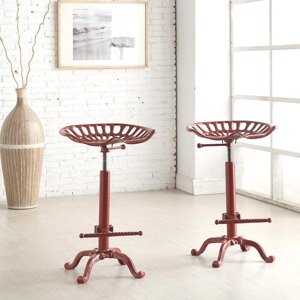 Wooden Tractor Seat Bar Stools