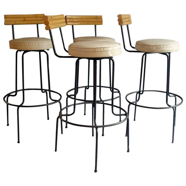 Wrought Iron Bar Stools For Sale