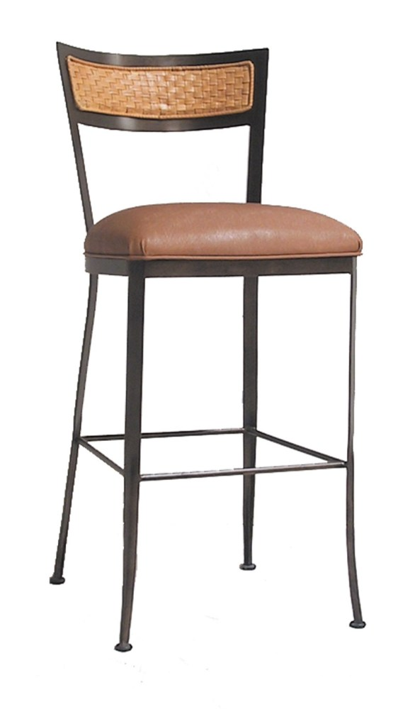 Wrought Iron Bar Stools Wood Seat