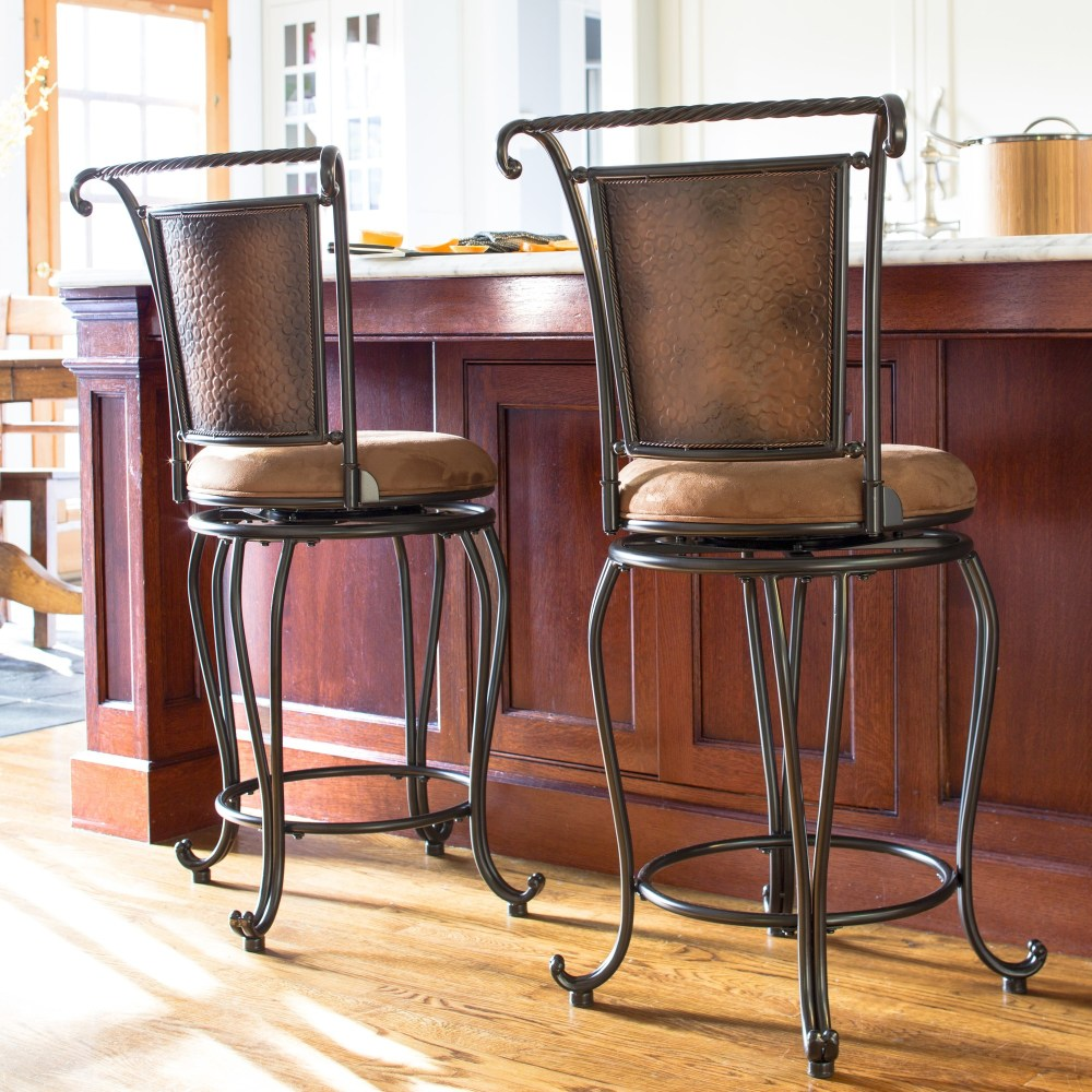 Wrought Iron Swivel Bar Stools