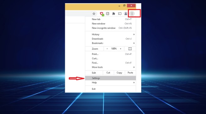 Google Chrome more settings