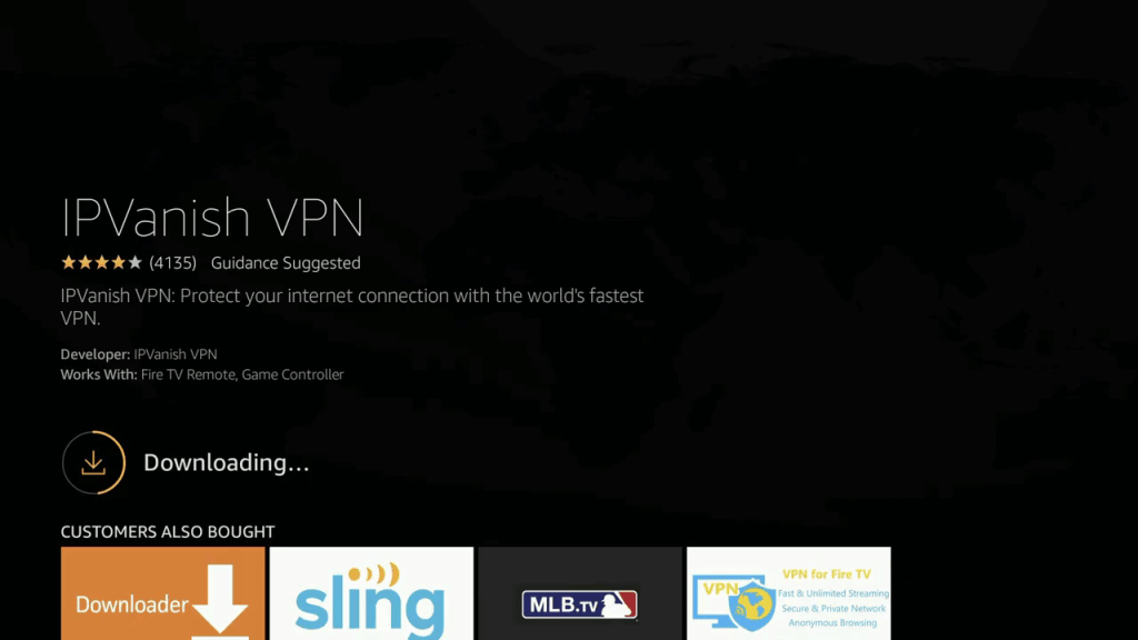 IPVanish VPN on Firestick