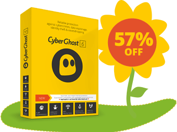 57% discount of cyberghostvpn