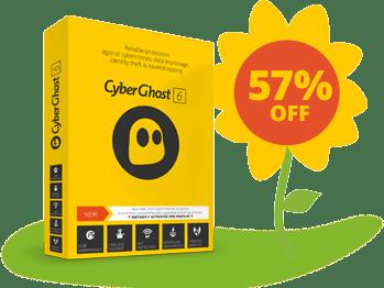 57% discount of cyberghostvpn
