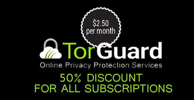 TorGuard Coupons Codes, 50% Off in all subscriptions