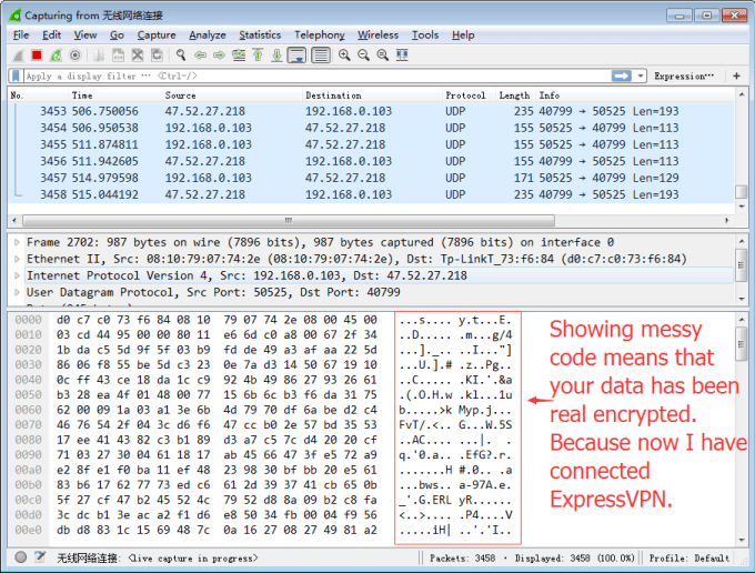 WireShark to test Encrypted VPN Connection 4