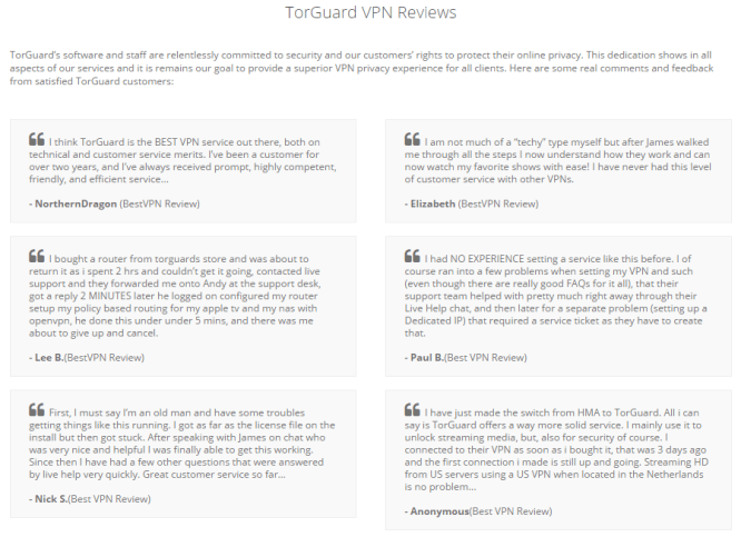 reviews of torguard vpn